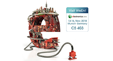 WeEn Semiconductors Co., Ltd will join Electronica 2018, which will hold in Munich during 13-16, Nov. 2018. WeEn's booth is located at No.403, Hall C5.